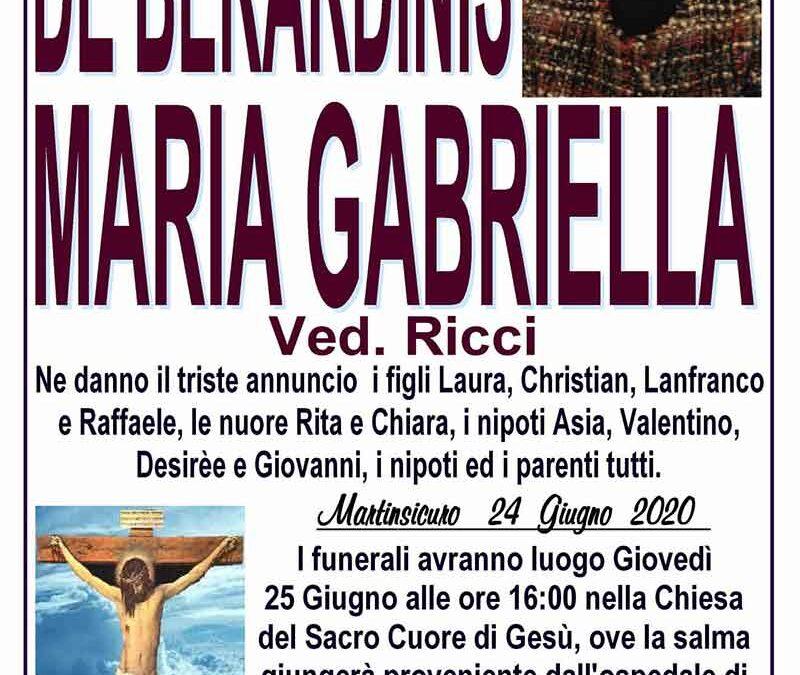 De Berardinis Maria Gabriella